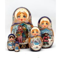 The fine details and beautiful artwork of the Russian nesting dolls make them a treasure to anyone who receives them. These are created in the tradition of Matryoshka folk art dolls, which originated at the end of the nineteenth century in Russia.