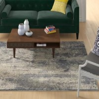 This Abstract Ivory/Slate Gray Area Rug brings a sophisticated, modern flair to a desert-inspired color palette. This rug is richly textural, adding warmth and excitement to any room. Power loomed for a lush pile in modern, easy-care fibers.