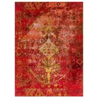 This Red Indoor/Outdoor Area Rug is special and unique featuring classically traditional design with a twist. A prominent pattern and dip-dyed, distressed finish results in a stunning watercolor effect. Its rich saturated color beautifully showcases the traditional design while the bold color palette adds glamour and drama to any decor. This rug is masterfully woven of 100% weather-resistant material enhancing its durability. Its soft polypropylene pile creates the perfect soft floor covering...