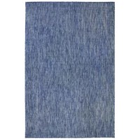 Add visual interest to your living space with this Desantiago Texture Stripe Navy Indoor/Outdoor Area Rug. Woven of weather-resistant polypropylene, this flatwoven rug has subtle and natural beauty. There is no need to sacrifice style with this versatile rug. The low-profile nature of this rug offers a casual, lifestyle look to use nearly anywhere inside or outside the home.