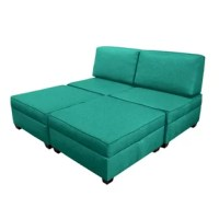 This Modular Storage Ottoman stands on its own or combines with more ottomans and sofa back pillows to create the furniture you want footstools, end tables, coffee tables, bench seating, chairs, sofas, chaise lounges, twin beds, king beds and more. The ottoman top opens to reveal convenient storage space. Perfect for dorms, studio apartments, kids rooms, dens, and offices. With comfort and versatility, the possibilities are endless