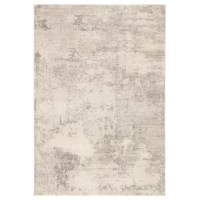 Muted ivory and gray color tones combine with on-trend abstract patterning to create the transitional appeal of this neutral area rug. The subtly lustrous viscose and polyester blend lend an incredibly soft feel underfoot.