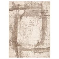 Modern and statement-making, this striking and artistic area rug feature a painterly-inspired brushstroke design. This rug's soft and ridged, low pile combine with the durability of polyester and polypropylene for the perfect anchor in any sleek space.