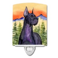 This artwork ceramic night light is perfect for any room in the house. Two included screws hold the tile into a holder.