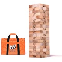 The biggest hardwood Jenga® GIANT hardwood game yet! Now it's a SPORT! Fun to play! Exciting to watch!