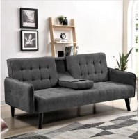 Though this iconic invention has been around since the turn of the 20th century, saving space never goes out of style. Bring the detail and design you love about your contemporary couch to a fully functioning futon, this charming convertible Pinzon Sleeper is an excellent option for your den, home office, or multi-purpose guest room. Founded on a solid and manufactured wood frame with metal mechanisms, this dapper design strikes a clean-lined silhouette with an angled backrest, tight square...