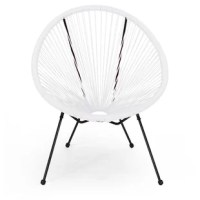 This patio chair featuring a delightful hammock weave provides a timeless look to your home while providing ultimate comfort. Consisting of a steel frame and rattan material, this charming piece is made to last with its weather-resistant construct and durable structure.