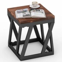 This end table fits perfectly for any vintage style living room, entryway, bedroom. A must-have multi-functional small table can act as an accent table, side table, nightstand for home decor.