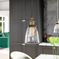Whether you're leaning into a rustic, industrial-chic aesthetic in the den or offering up a simple, utilitarian twist to your contemporary abode, this eye-catching luminary is sure to tie a modern and on-trend environment together with ease. Featuring an understated metal canopy and wire with a clear glass shade, this mini pendant makes a subtle statement in any space. This fixture accommodates up to 60 W maximum bulbs (not included).