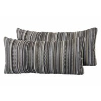 Help make your outdoor space inviting with the addition of these outdoor lumbar pillows.