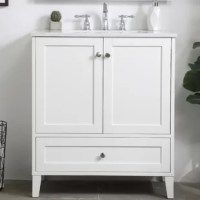 While unassuming, this vanity sure knows how to redefine luxury. The sleek knobs adorn the two cabinet doors and base drawer which allows you to store your bathroom toiletries and necessities. Standing strong on oblique legs and dressed with a Calcatta quartz countertop, this vanity will surely create beauty and casual elegance in your bathroom or powder room.