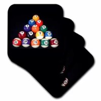 Billiards Balls Pool Coaster is a great complement to any home décor. Ceramic coasters are 4.25