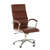 With an elegant design and a variety of color options to choose from, the Series C High Back Genuine Leather Conference Chair is the perfect seating solution to reflect your style. The cushioned bonded leather upholstery provides top-notch comfort with a sophisticated appearance that works well in any professional environment. This desk chair features a tilt mechanism that can be customized by turning a knob underneath the seat to increase or decrease the amount of tension felt while reclining...