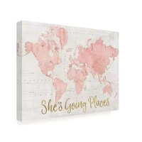 Contemporary, rustic, modern, or traditional; whatever your style, it has got your walls covered! This 'Across the World She's Going Places Pink' Textual Art on Canvas offers a high-quality, ready-to-hang wall art to complement any decor. Whether it's displayed in the bedroom, living room, kitchen or office, this professionally handcrafted wall art will be admired for years to come!