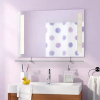The Brayden Studio Mirror is a seamless addition to your modern or contemporary bathroom. The perfect mirror to enlarge a small bath, this posh mirror is made of one solid piece of etched glass, and features a generously sized shelf that's perfect for bathroom storage and décor.
