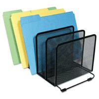 Five sections for sorting file folders, books papers and more. Helps organize desk clutter. Mesh contemporary design looks distinctive and is appropriate with any decor.