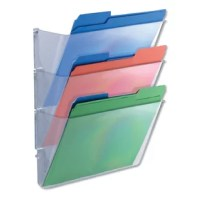 Expandable system lets you customize your wall filing system. Simply add pockets as your organization needs grow. Mounting hardware included. Sturdy plastic is tough enough for active environments.