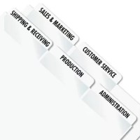 """Create permanent professional-quality indexes. Sturdy plastic self-adhesive tabs attach to any page to organize and index in a flash to keep you organized. Templates compatible with Windows version of WordPerfect and Microsoft Word. Use them on divider sheets or any size bound material€""""index your specific titles. Will not tear or curl."""