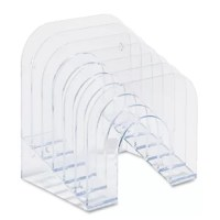 Keep organization in sight. Tiered sections make content viewing easy and retrieval quick. For letter and A4 size file folders, sturdy enough for heavy spiral notebooks. Tall vanes keep papers upright. Extra thick plastic for maximum durability. Wall mountable.