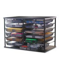 Organize any area of your business or home. This versatile organizer expands your desk or home office storage capability. Smart organizer features removable mesh drawers. Each drawer has a flat surface on the front for labeling. Stackable design with brackets included. Sturdy, dependable, with clean, simple lines that work with any decor.