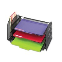 Attractive organizer helps you stay on top of desktop clutter. Functions as a useful in-box,