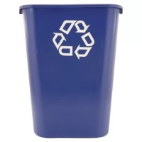 Don't toss recyclable paper into your traditional wastebasket. Place this container beside the wastebasket and keep the recyclables separated from other refuse.