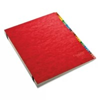 Expandable indexed desk file is the perfect solution to organizing your priority papers. Features multicolor Mylar coated tabs to make sorting and retrieval easier; gray inner dividers with center hole let you see files. Each section expands up to 1 1/2''. PressGuard cover resists moisture.