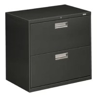 Well-engineered and incredibly strong, The Brigade 600 Series 2-Drawer Lateral Filing Cabinet from HON is built for the demands of high-activity filing. This 2 drawer, features a fully enclosed base to resist tampering. It accepts letter or legal hanging file folders and it has bright aluminum handles.
