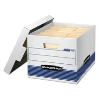 1 1/2 end, 1 1/2 side construction. Medium duty for use with or without shelving. Quick set-up assembly. Deep locking lift-off lid stays in place for secure file storage. Rolled edges add strength and prevent paper cuts.