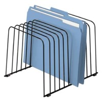 Wire design keeps files in view. Eleven vari-spaced'' dividers for files or folders. Wire design will not collect dust.