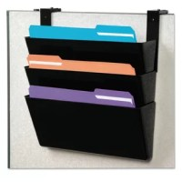An essential tool for every office or cubicle, this attractive three-pocket file moves papers off the desk, creates extra space and organizes your office. Durable construction makes pockets long-lasting. Great for high-traffic areas and large workloads. Stackable units connect easily. Mounting hardware included. Hanging File Systems Type: Hanging Multiple Pockets; For File Size: Letter; Overall Height: N/A; Width: 13 in.
