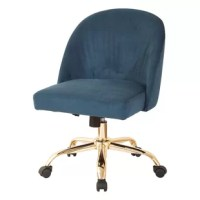 Bask in your tasks and roll through any undertaking effortlessly with sumptuous Mid-Back Task Chair. Extra plush, extra sturdy and most importantly extra style. Durable gold finish metal legs and high performance all directional wheels allow smooth movement across carpeting.