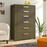 This chest's tall, compact design offers optimal storage in a small space; the compact drawers help keep items organized.