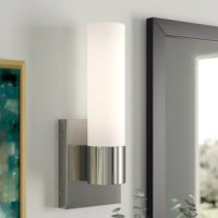 1-Light LED Bath Sconce 15.5W warm soft light frosted glass 1300 lumens 3000K modern bathroom mirror lighting - 13.5