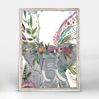 Let's be friends with this funky Casey Boho Elephant Mini Canvas Art and the rest of the world will be more colorful than ever.