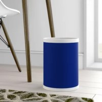 The Round Waste Basket is a metal can covered in a matching deluxe quality vinyl. This size waste basket is excellent for a smaller area such as a guest bath, or small bar area.