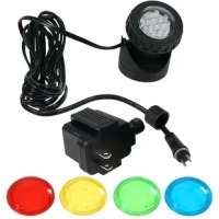 If you are looking to bring a shining illumination to your backyard pool outdoor water fountain or smaller pond this Resin 1 Light Submersible Electric Light Kit with Transformer and Light is your perfect option. The cable connecting the transformer and lights is UL tested and approved so these LED lights are safe to be used outdoors. The 12V weatherproof lights may be placed underwater to create a bright underwater show that is sure to light up any outdoor space. With a 90-degree adjustable...