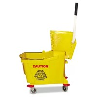 Bucket and wringer combo is constructed of tough, crack-resistant plastic. Easy-pivot ball bearing casters facilitate smooth turns. Extended handle for better wringing leverage. warning: cancer and birth defect/reproductive harm