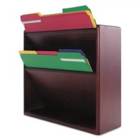 The convenience of a wall file with the attractive look of a cabinet. Enclosed wall file features smooth radius edges, fine detailing and hand-rubbed finish. Stores files in top two slots, often-used supplies on accessory ledge. Global Product Type: Hanging File Systems-Multiple Pockets Supplies Organizer; Hanging File Systems Type: Multiple Pockets Supplies Organizer;