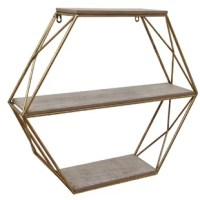 Its three tiers of storage space are complete with manufactured wood shelves with a rustic design. Display your book collection, photos, plants or your cherished accent pieces by accent shelf. Contemporary industrial design with an essence that lets you indulge in its beauty. Designed to maximize shelf space and built to be sturdy, this wall shelf  is overall lightweight and suited to all your needs. Place any decorative accent on this mounted wall shelf to grab the attention of your guests.