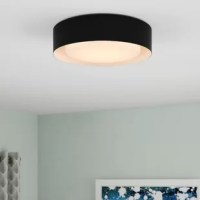 Illuminate your space in fun, contemporary style with this product. Crafted of metal in a matte finish, this fixture features a drum-shaped shade with a metallic interior for a chic contrast. Rounding out the design, a frosted glass diffuser ensconces three 60 W incandescent E26 medium base bulbs (not included) to soften bright light as it's dispersed throughout your space.