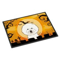 Black binding tape is sewn around the doormat for durability and to nicely frame the artwork. The doormat has been permanently dyed for moderate traffic and can be placed inside or out (only under a covered space). Durable and fade resistant. The back of the doormat is rubber backed to keep the mat from slipping on a smooth floor. Wash with high pressure from your garden hose or with a power washer. Use cleaner that does not produce suds.