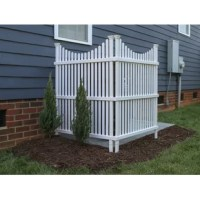Now you can hide your unsightly garbage bins and air conditioning units with this decorative vinyl privacy screen. You don't need to dig holes or pour concrete. These items are also maintenance free, so you don't need to paint or stain them.