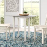 Lynn Extendable Drop Leaf Rubberwood Solid Wood Dining Table