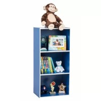 This simple stylish design 3-shelf bookcase is suitable for any room. It's sturdy and large shelves are perfect for holding large books, small decorations or anything else that needs to be tucked away. Perfect for extra storage at the home, office or dorm room. Fun green color and simple lines make this a great addition to any room.