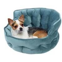Even smaller pets need to have a luxurious cozy place to rest and feel secure. This ultra-plush mini tufted round pet bed cuddler is designed to provide maximum comfort and support.