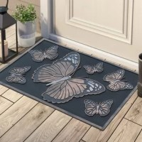 This stylish and unique doormat makes a perfectly fun addition to any porch, patio area or door. Use this doormat to catch dirt as your guests enter your home or as decoration to show off your love of felines. This doormat withstands seasonal changes and can be used outside all year long. This transitional style copper and black rubber doormat is the perfect way to spruce up your floors and home decor while maintaining a level of practicality.