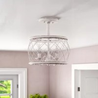 When it comes to good lighting, your light fixture can make it or break it. Find the light you love with this semi-flush mount. Crafted from metal, this piece is suspended by a rod and features a wire-like drum cage that offers eye-catching appeal. Three curved arms each support any candelabra bulb up to 60 W (not included), and with a damp location rating, it's perfect for highlighting your bathroom or closed patio ensemble. Plus, it comes backed by a ten-year warranty.
