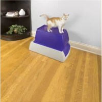 The PetSafe® Scoopfree Top-Entry Ultra Self-Cleaning Litter Box is an automatic litter box that stays fresh and clean without the hassle of scooping. Simply plug in the box and watch it work. The automatic rake system sweeps waste into the covered compartment 5, 10 or 20 minutes after your cat uses the litter box. The special crystal cat litter, packed in a convenient disposable litter tray, is 5 times more effective at reducing odor than clay or clumping cat litters. The privacy hood gives...