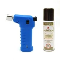 This torch set includes a 1.50 oz. can, non-clogging, triple filtered butane fuel. The